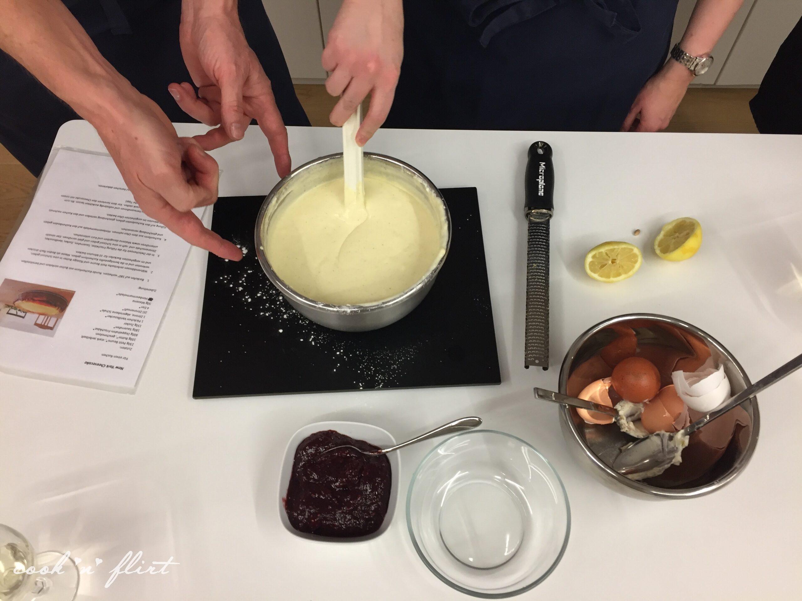 Cook 'n' Flirt mit Liebe zum Cheesecake
